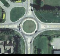 96th Street at Ditch Road roundabout