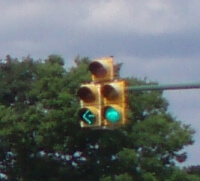 Five Section Left Turn Signal Head